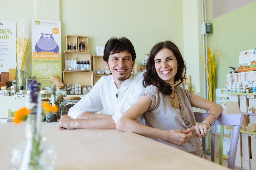Luigi Panaroni e Lucia Genangeli del laboratorio La Saponaria