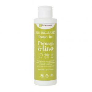 Bio Balsamo per capelli Leave in Moringa e Lino di La Saponaria da 150 ml