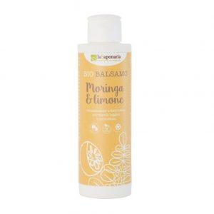 Bio balsamo Leave-in moringa e limone per capelli di La Saponaria da 150 ml