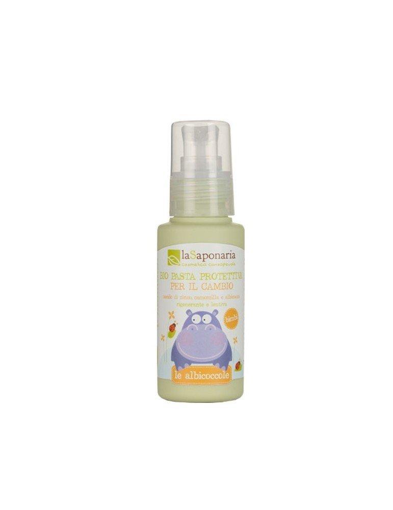 Bio pasta lenitiva protettiva (naturale e biologica) per il cambio del pannolino dei neonati all'ossido di zinco di La Saponaria da 75 ml