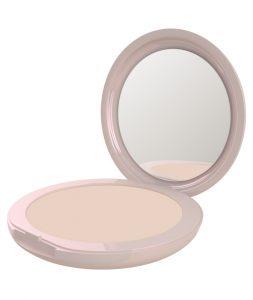 Cipria Fluffy Matte di Neve Cosmetics linea Flat Perfection in polvere pressata