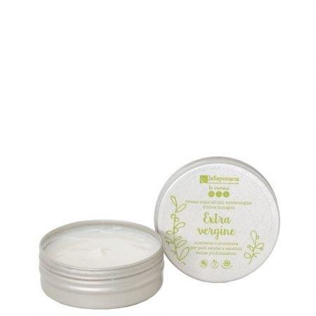 Crema mani professionale bio vegan con olio extravergine di oliva e aloe vera per uomo e donna di La Saponaria da 60 ml
