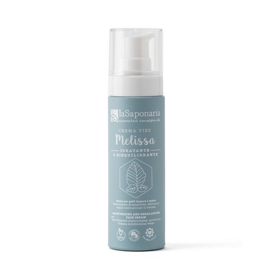 Crema viso bio idratante Melissa di La Saponaria riequilibrante da 50 ml