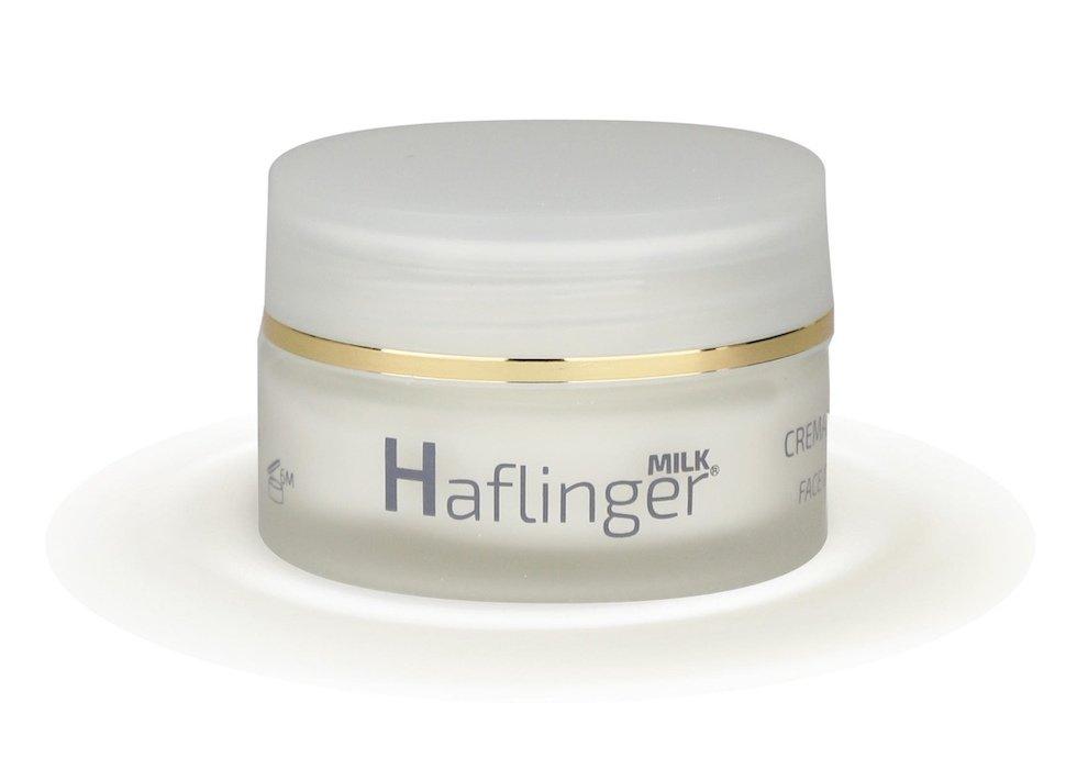 Crema viso naturale si lusso per pelle matura al latte di cavalla Haflinger Milk da 20 ml
