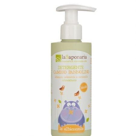 Detergente intimo naturale biologico per cambio pannolino del neonato di La Saponaria da 190 ml