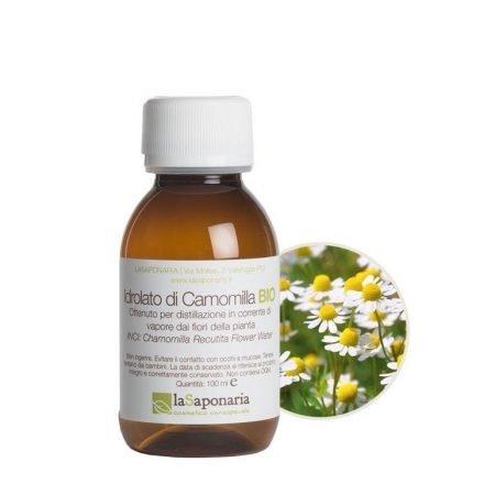 Idrolato di camomilla biologico puro al 100% de La Saponaria da 100 ml