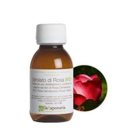 Idrolato di rosa damascena biologico puro de La Saponaria da 100 ml