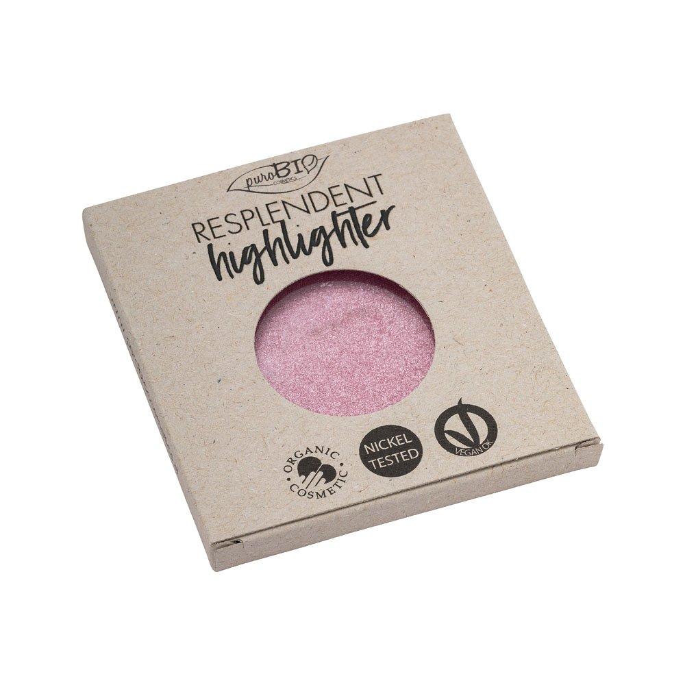 Illuminante bio Resplendent n. 02 Rosa refill di PuroBio Cosmetics