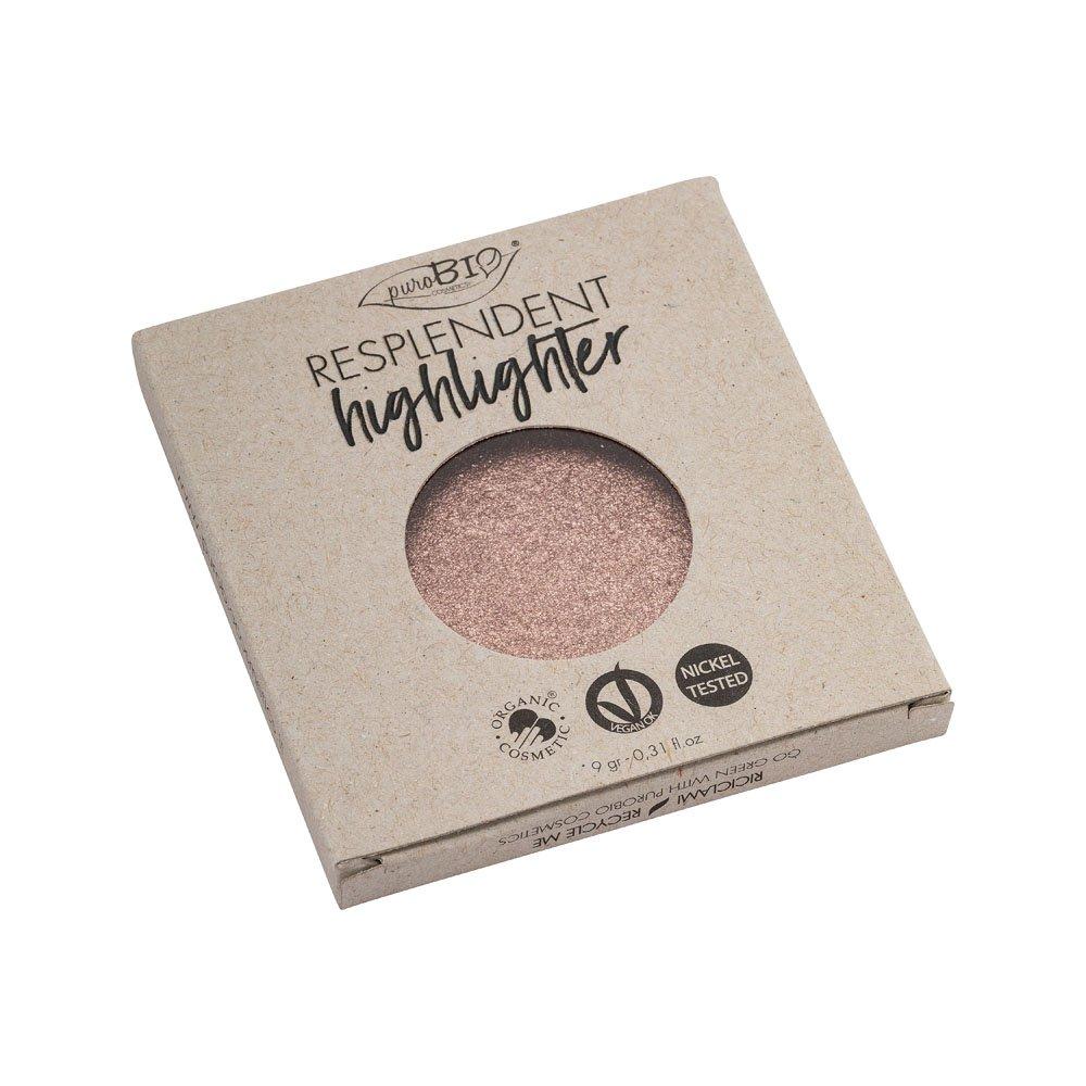 Illuminante bio resplendent n. 04 oro rosa refill di PuroBio Cosmetics