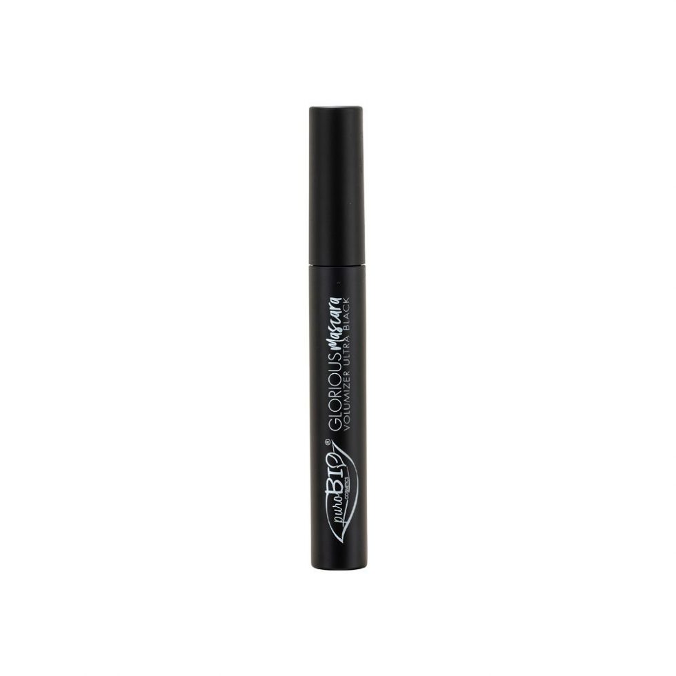 Mascara volumizzante Glorious di PuroBio Cosmetics ultra black