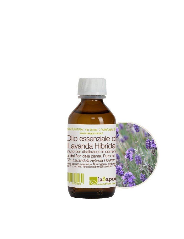 Olio essenziale puro al 100% di lavanda hybrida de La Saponaria da 100 ml