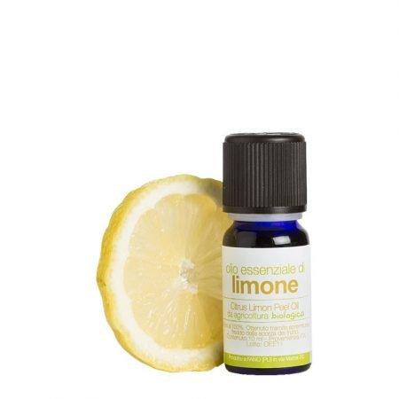 Olio essenziale naturale biologico di limone puro al 100% di la Saponaria da 10 ml per diffusori