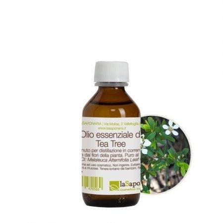Olio essenziale naturale di tea tree puro al 100% di La Saponaria da 100 ml