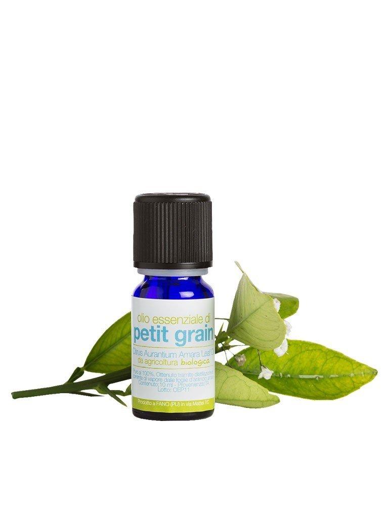 Olio essenziale biologico puro di petit grain o arancio amaro ricavato dai fiori de La Saponaria da 10 ml