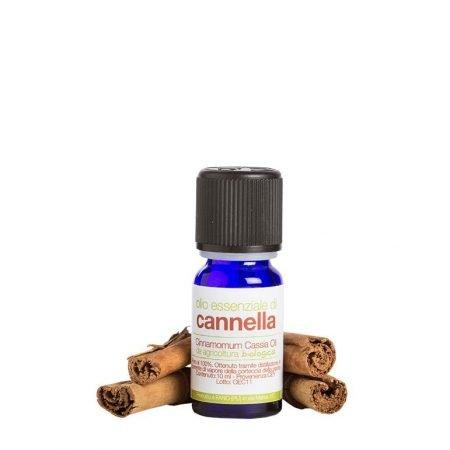 Olio essenziale puro di corteccia di cannella biologica di La Saponaria da 10 ml