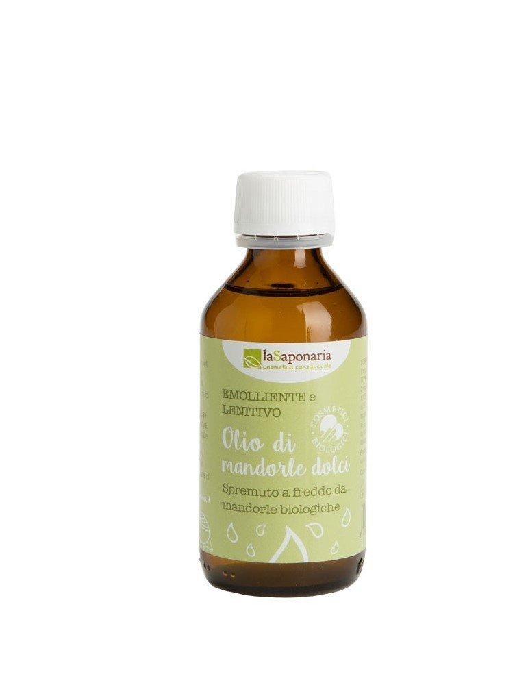 Olio di mandorle dolci biologico naturale puro al 100% di la Saponaria da 100 ml