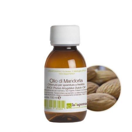Olio naturale di mandorla puro al 100% La Saponaria da 100 ml