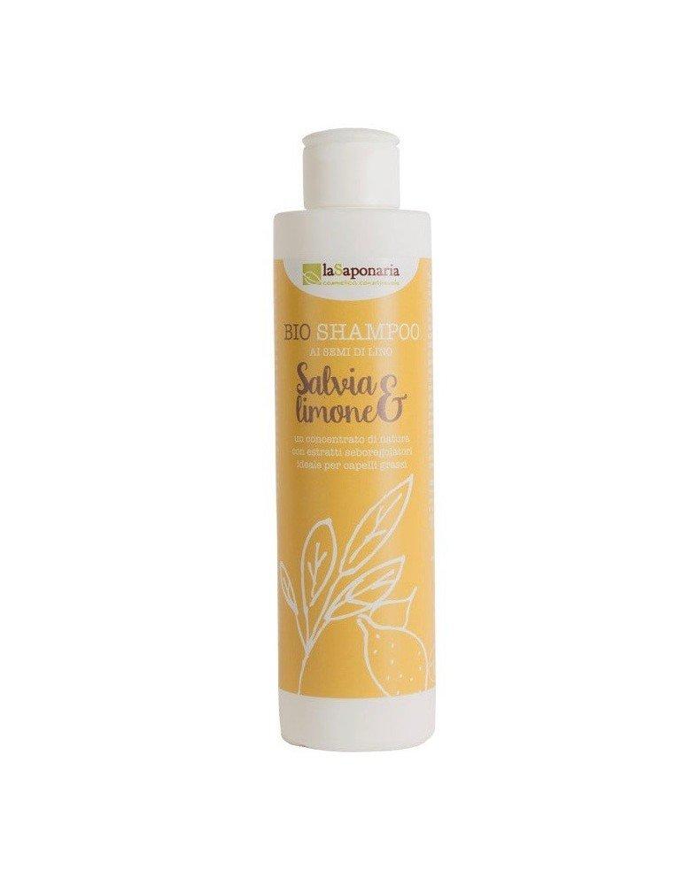 Shampoo salvia e limone biologico di La Saponaria artigianale da 200 ml